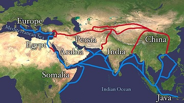 Map of the Silk Road Routes