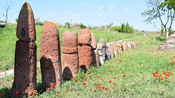 Vishap Stones at Metsamor, Armenia