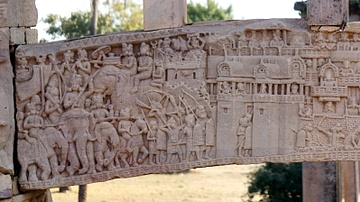 """War over the Buddha's Relics"", Sanchi"