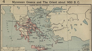 Mycenean Greece and the Orient about 1450 BC