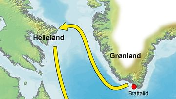 Map of the Greenland-Vinland Voyage