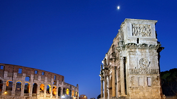 West Short Side of Arch of Constantine