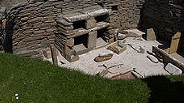 Stone furnishings of a house