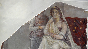 Wall Painting Depicting Phaedra