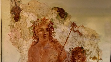Wall Panel Depicting Bacchus and Silenus