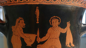 Thesmophoriazusae, Red-Figure Krater