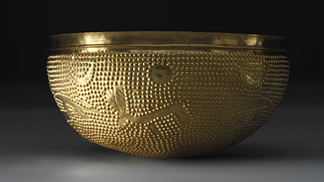 Bronze Age Gold Bowl, 1100 BCE