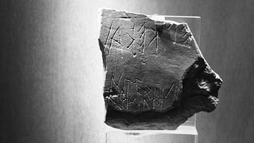 The Earliest Attic Graffito on Stone from the Acropolis