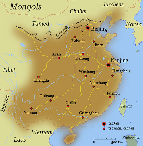 Map of the Ming Dynasty Territory