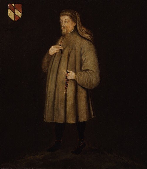 Portrait of Geoffrey Chaucer (by National Portrait Gallery)
