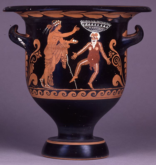 Comic Scene, Bell-krater, Paestum (by Trustees of the British Museum)