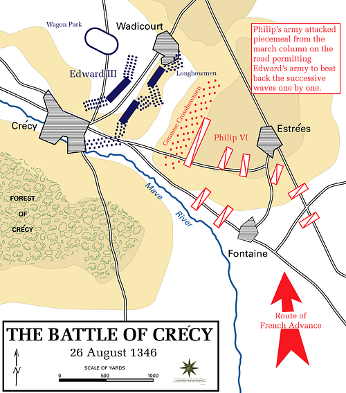 Battle of Crécy Map
