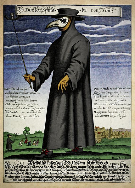 17th Century CE Depiction of Plague Doctor