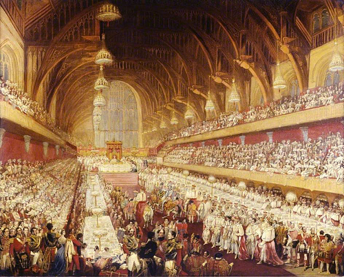 Coronation Banquet of George IV, Westminster Hall