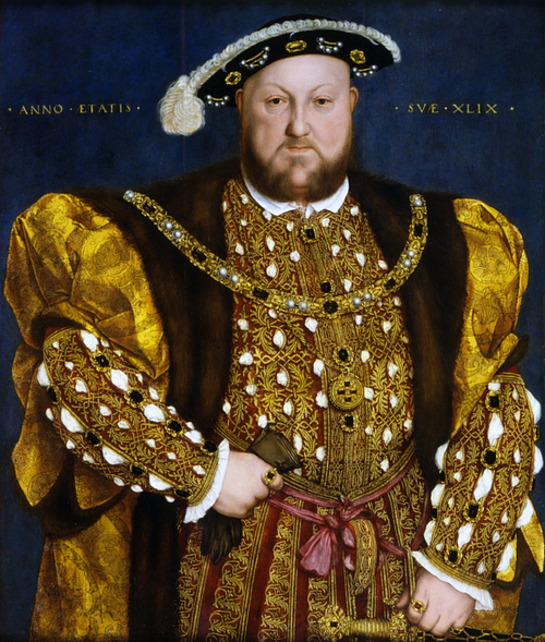 Henry VIII by Holbein (by Hans Holbein, Public Domain)