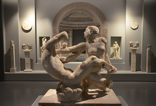 Statue Group of Satyr and Hermaphrodite