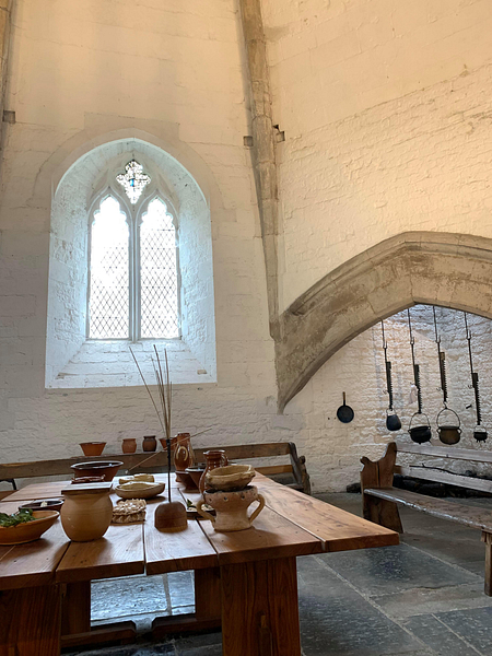 The Abbot's Kitchen Interior - Glastonbury Abbey