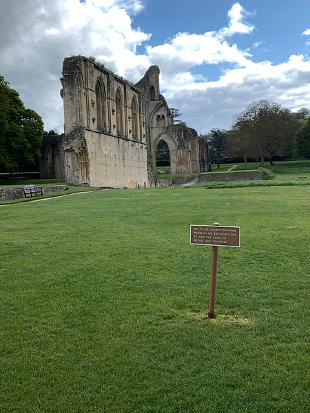 Ancient Burial Site of King Arthur and Guinevere at Glastonbury Abbey