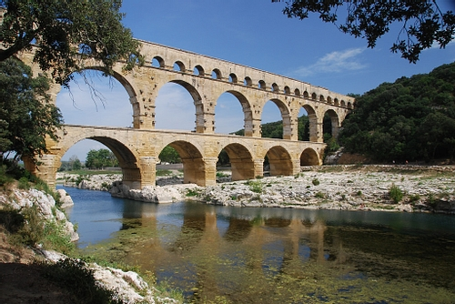 The Roman Aqueduct of Pont du Gard (by Michael Gwyther-Jones, CC BY)