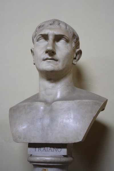 Trajan Bust, Vatican Museums (by Mark Cartwright)