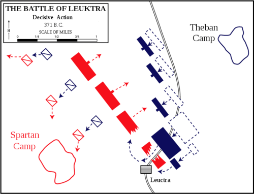 Battle of Leuctra, 371 BCE (by Dept. of History, U.S. Military Academy)