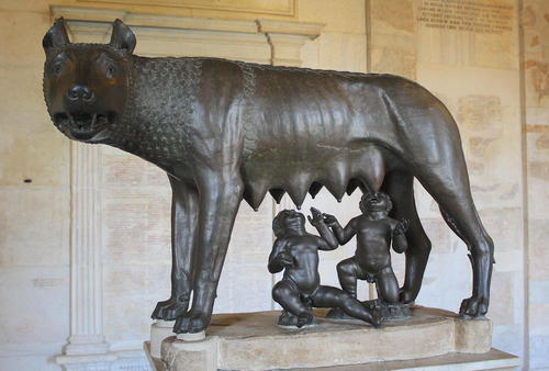 Romulus & Remus (by Mark Cartwright, CC BY-NC-SA)