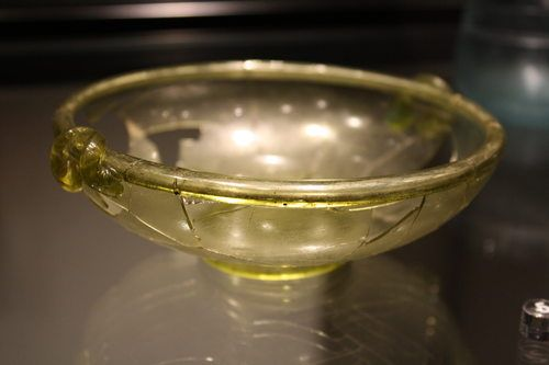 Roman Yellow Glass Bowl, Aosta