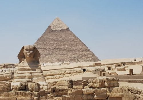 Sphinx and Khephren Pyramid (by carinemahy, Copyright)