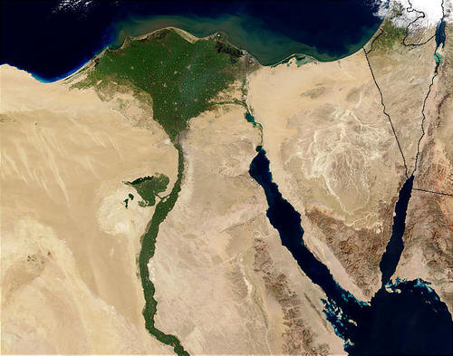 Nile Delta (by Jacques Descloitres (NASA))