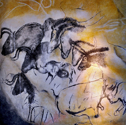 Cave Paintings in the Chauvet Cave (by Thomas T., CC BY-NC-SA)