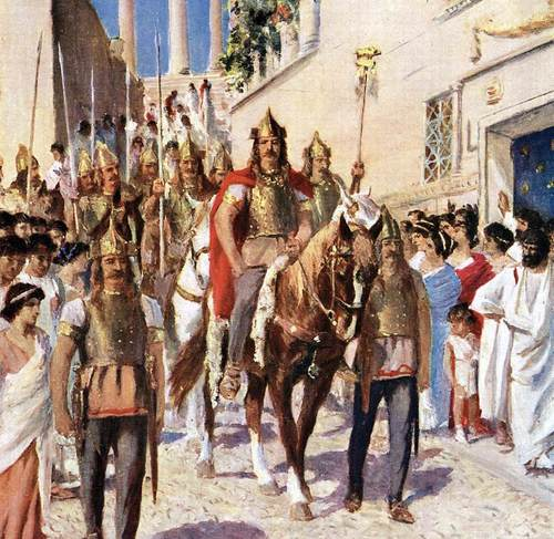 Alaric Entering Athens (by Unknown)