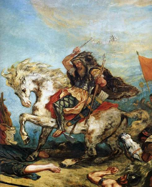Attila the Hun by Delacroix