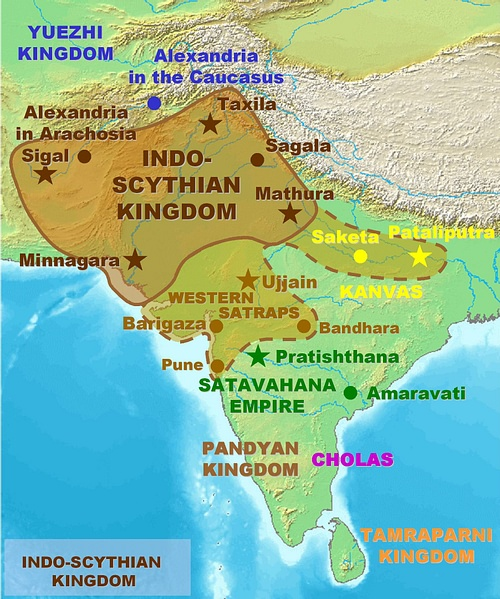 Map of the Indo-Saka Kingdoms (by World Imaging)