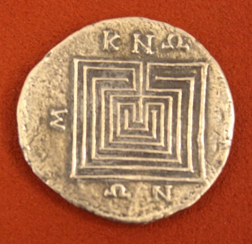 Labyrinth, Knossos Silver Tetradrachm (by Mark Cartwright, CC BY-NC-SA)