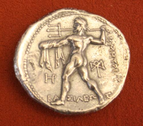 Poseidon, Silver Tetradrachm of Macedon (by Mark Cartwright, CC BY-NC-SA)