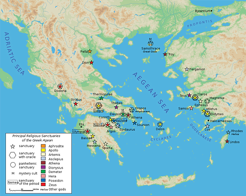 Map of Classical Greek Sanctuaries (by Marsyas, CC BY-SA)