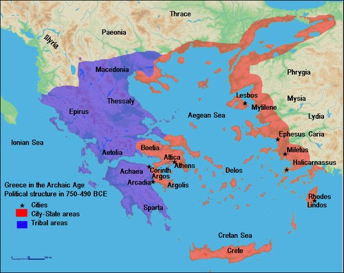Map of Archaic Greece