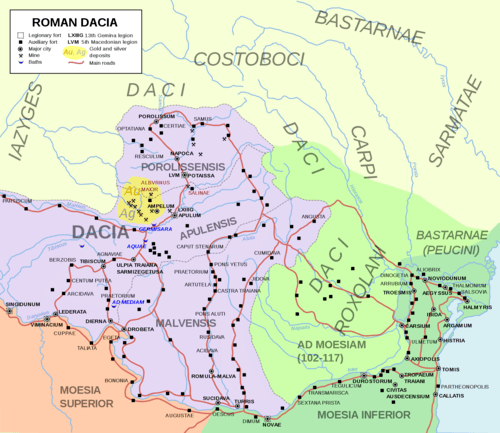 Map of Roman Dacia (by Andrei nacu, CC BY-SA)