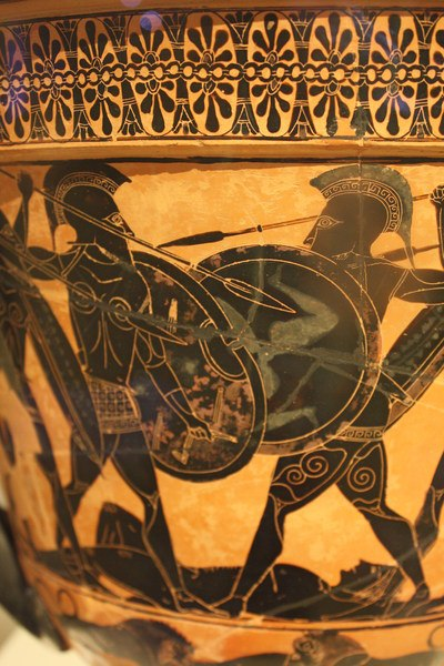 Black-Figure Warrior Scene (by Mark Cartwright, CC BY-NC-SA)