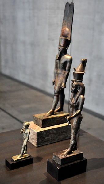 Amun, Mut, and Khonsu