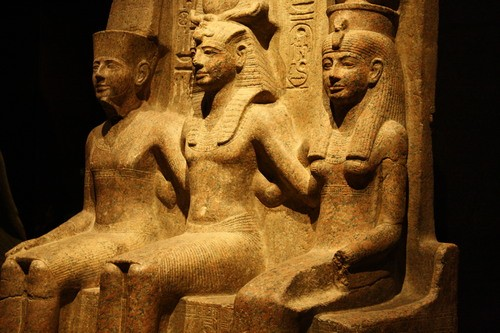 Amun, Ramesses II, & Mut (by Mark Cartwright)