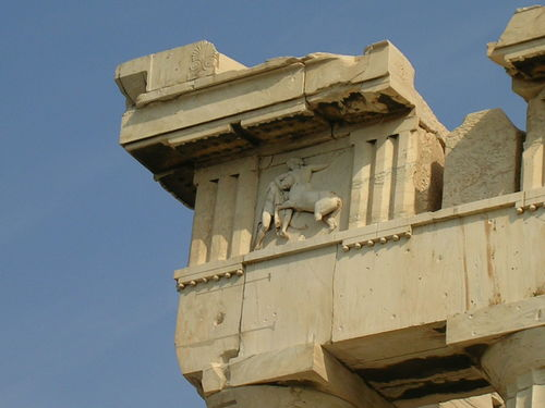 Entablature with Metope and Triglyphs