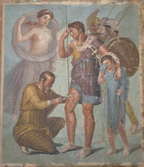 Fresco with Wounded Aeneas (by Carole Raddato, CC BY-SA)
