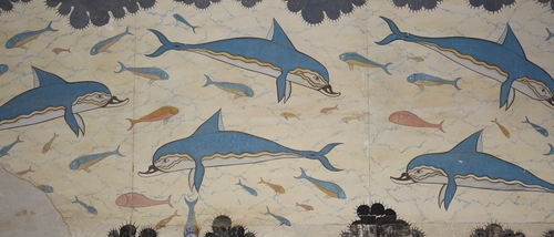 Dolphin Fresco, Knossos, Crete (by Mark Cartwright, CC BY-NC-SA)