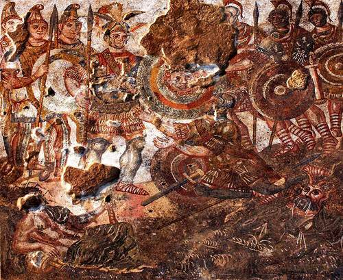 Battle of Hydaspes mosaic (by Jorge António, Public Domain)