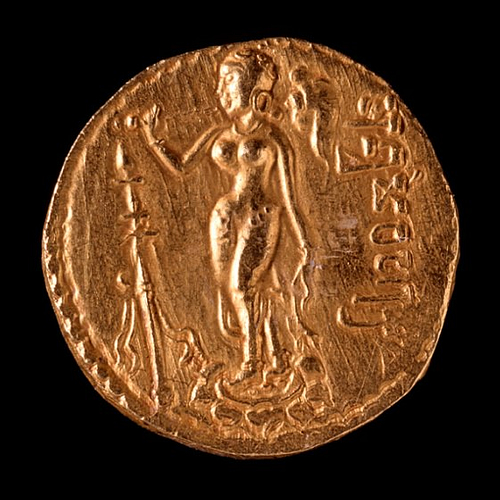 Gold Coin of Samudragupta (by Ashley Van Haeften, CC BY)