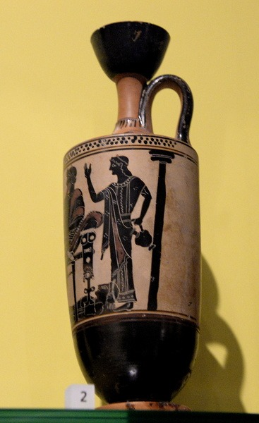 Lekythos with the Ransom of Hector Scene