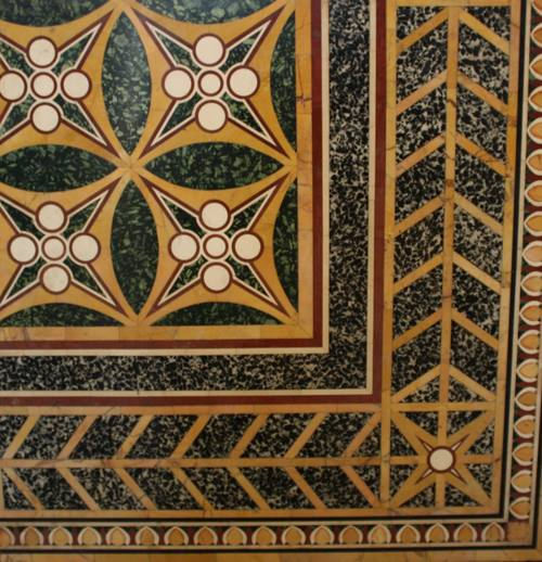Opus Sectile Floor Panel
