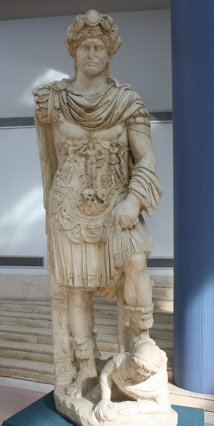 Hadrian in Military Armour