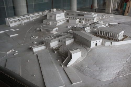 Model of the Agora of Athens (by Mark Cartwright, CC BY-NC-SA)